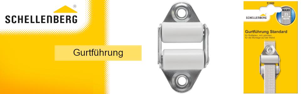 Schellenberg riemgeleiding voor het netjes oprollen van de riem. Zorgt voor minder slijtage.