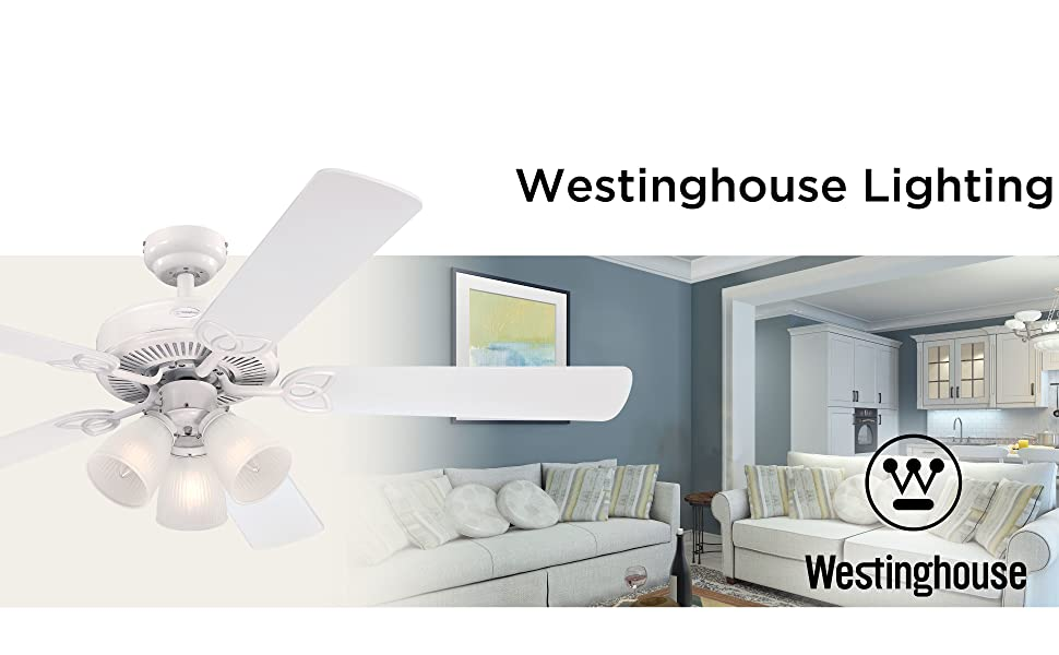 Traditional style indoor ceiling fan adds energy-efficient airflow and LED illumination.