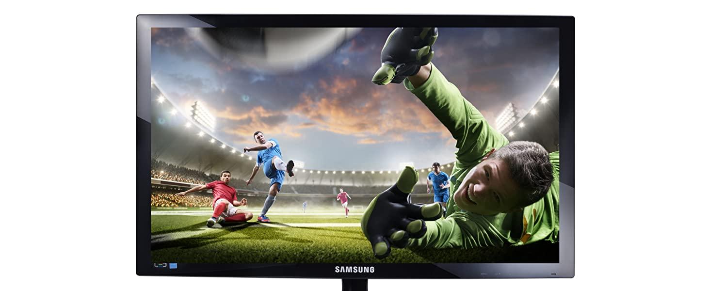 "Football Game on Samsung 330 Series 24"" LED Monitor for Business with Great Full HD Picture Quality"