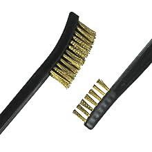 brass brush, double ended
