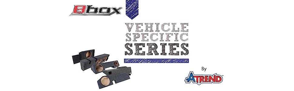 "Bbox SCA201-10CP Dual 10/"" Sealed Subwoofer Enclosure Fits 2002-2017 Dodge Ram Quad Cab Passenger Side"