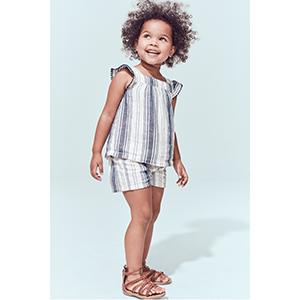 Girl wearing carters sandals