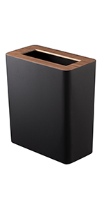 rin slim black trash can