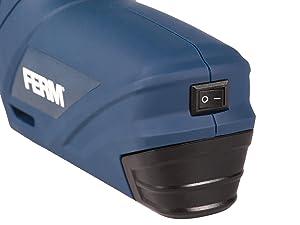 Inkl Soft Griff 1.5Ah 1000 Klammern 6mm und 1000 Klammern 12mm FERM Li-Ion Akku Tacker 3.6V