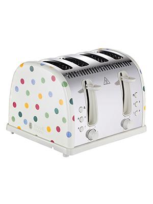 Emma Bridgewater by Russell Hobbs Toaster - Polka Dot 4 Slice Toaster - 21305