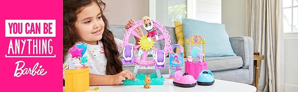Sélection Mattel Barbie Club Chelsea camion de nourriture de fête foraine cuisine poupée ghv82