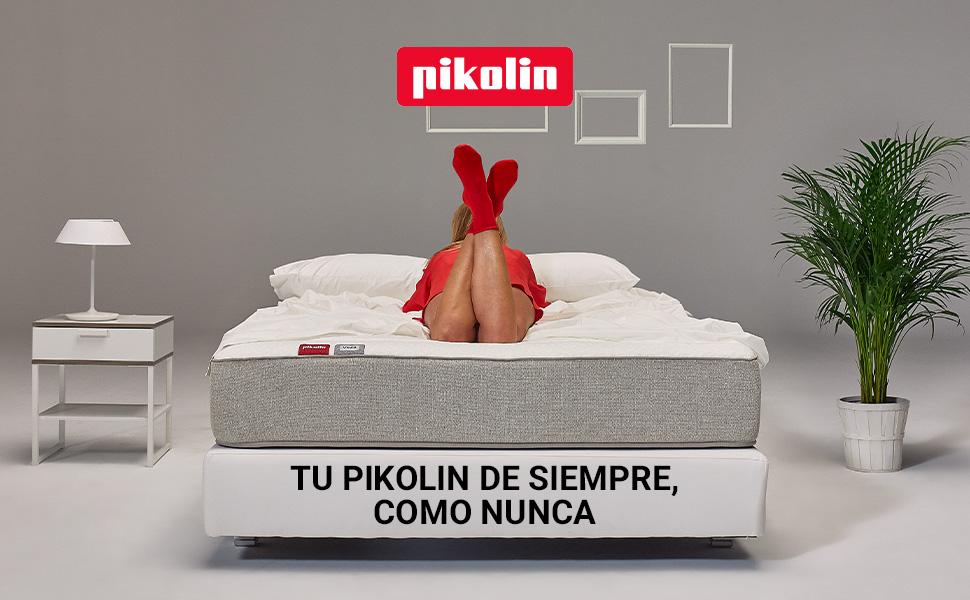 Pikolin Leah - Colchón viscoelástico y espuma HR, Altura 24cm, Firmeza Alta, Confort Visco, Calidad Óptima, Protección Higiénica Total, 90x190