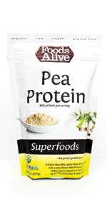 Organic Plant-Based Pea Protein Powder - Foods Alive