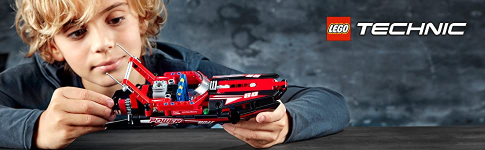 power-boat-red-fire-speed-racing-sport-hydroplane-ocean-lego-technic-42089-gears-technical