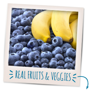 Nourish your little one with the goodness of real fruit & veggies