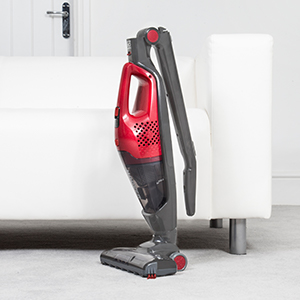 Hoover Freejet 18v 2in1 Cordless Vacuum Cleaner, FM18GFJ, Removable Handheld, Lightweight, Car, Kitchen, Stairs Grey Red