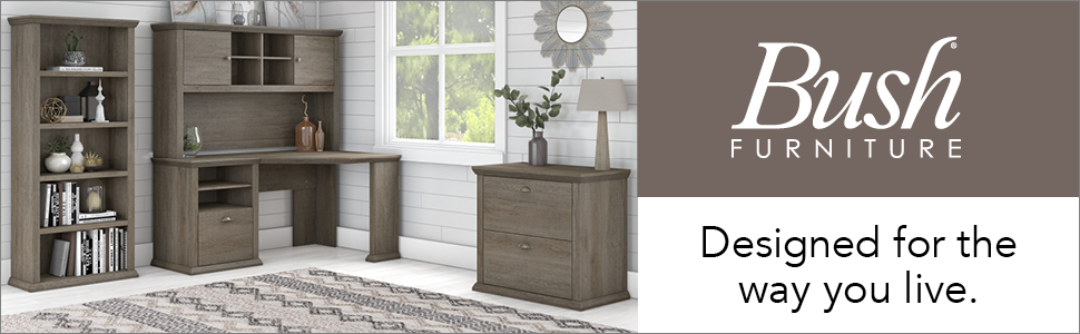 bush furniture,yorktown,restored gray,gray,transitional,bush,bush industries