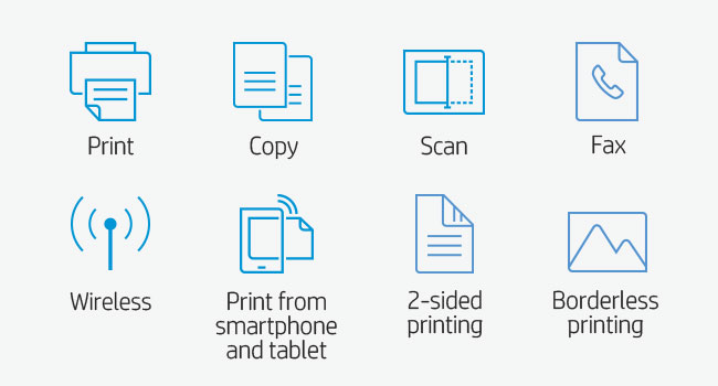 print scan copy fax wi-fi smartphone tablet 802.11 2-sided printing borderless