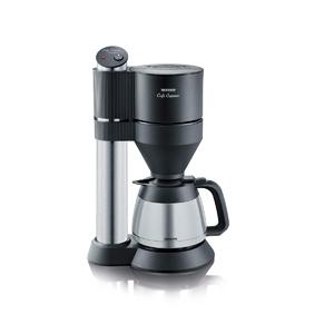 SEVERIN KA 5743 Cafetera Café Caprice Thermoline para filtros de Café Molido, 8 tazas incluye jarra termo, acero inoxidable/negro: Amazon.es: Hogar