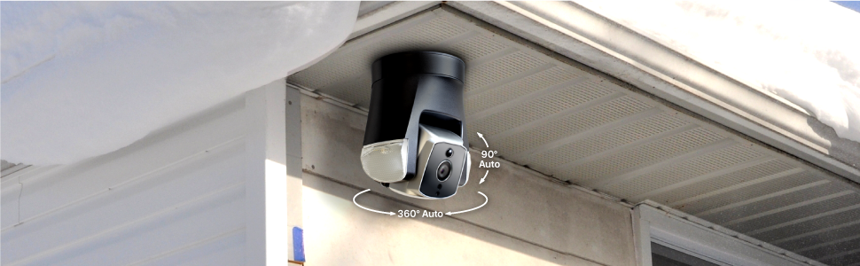 Amaryllo Ares biometric auto tracking outdoor security camera IP66 ethernet Wi-Fi LED night vision