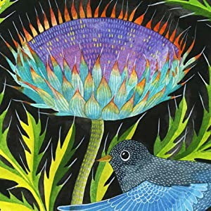 The colors vibrant and translucent, lending themselves perfectly to depicting feathered friends.