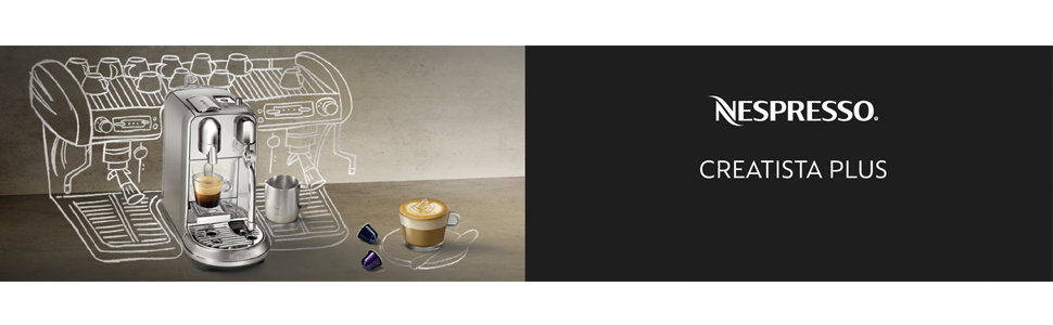 Nespresso BNE800 Creatista Sage Brushed 1600 W