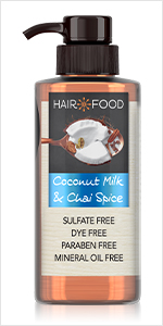 coconut milk, chai spice, soft hair, nourishing