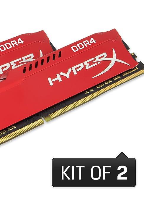 Kingston Technology HyperX Fury Black16GB 2933MHz DDR4 CL17 DIMM(Kit of 2) Memory HX429C17FB2K2/16