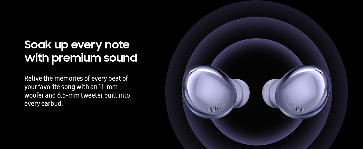Noise cancelling headphones, wireless headphones, Galaxy Buds Pro