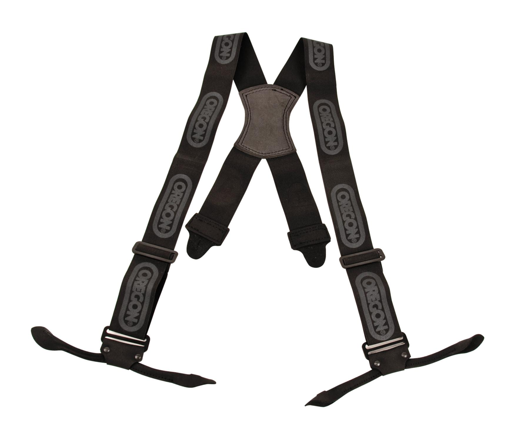 OREGON 562411 Black Logger Braces with Metal Clips