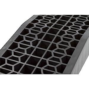 Car ramp honeycomb channels