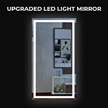 Modern LED Mirror with Lights