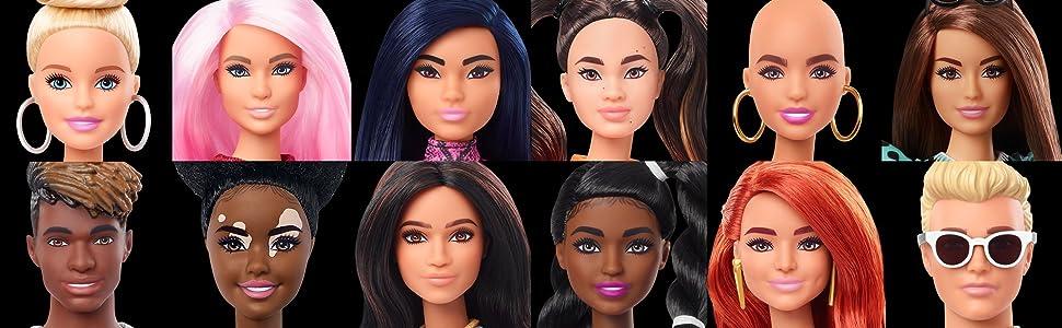 Muñecas Barbie a la última moda