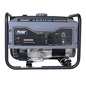 Pulsar Products 4650W Portable Gas-Powered Generator in Space Gray