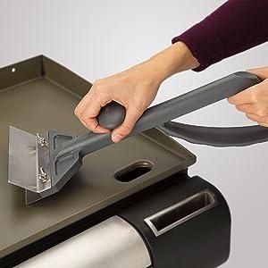 Cuisinart Griddle Commercial Scraper 6-Inch Stainless Steel Blade Splash Guard