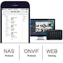 Most compatibility, supports Onvif and NAS protocols to work with NVR and DVR and computer browser