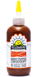 ghost pepepr yellowbird hot sauce