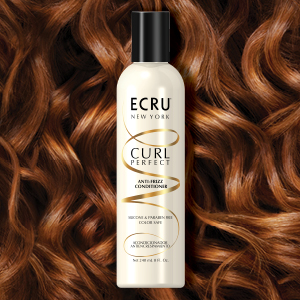 ECRU New York, Curl Perfect Anti-Frizz Conditioner, Moisturizes, Hydrates, Detangles, Anti-humidity