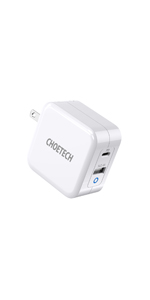 CHOETECH 65W Foldable USB C Wall Charger(GaN Tech)