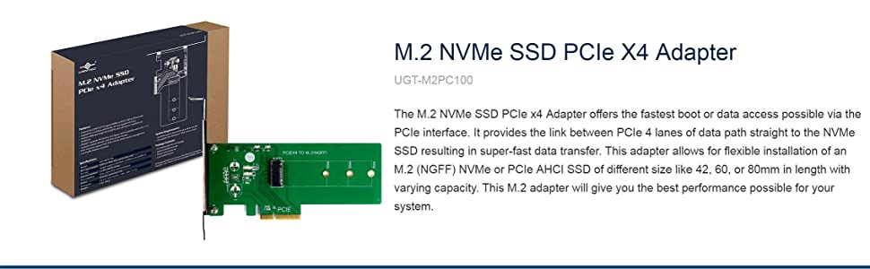 M.2, NVMe, AHCI, SSD, multi-size, UEFI, addon card, boot, Storage, ultra fast, M-Key
