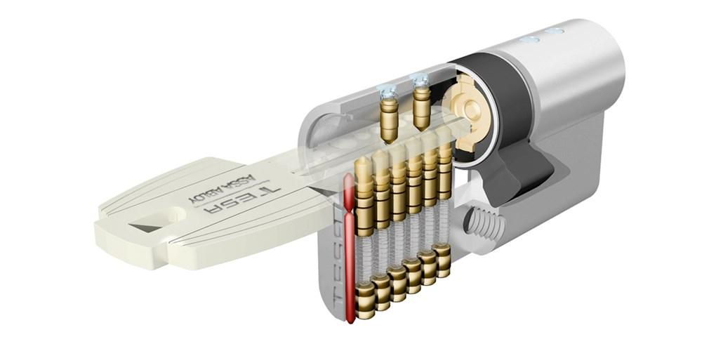 Cilindro Tesa; Cilindro de seguridad; Cilindro T80