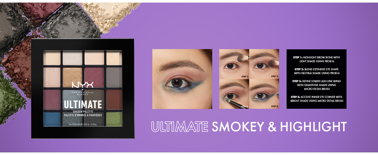 nyx professional makeup ultimate shadow palette eyeshadow palette colorful best drugstore shadow
