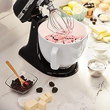 stand mixer, bowl, mixing