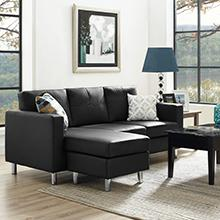 Amazoncom Dorel Living Small Spaces Configurable Sectional Sofa