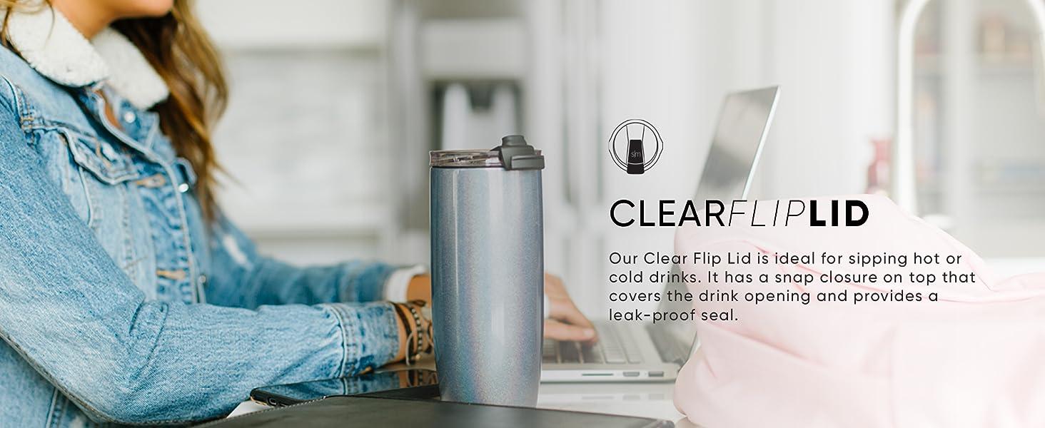 Clear Flip Lid