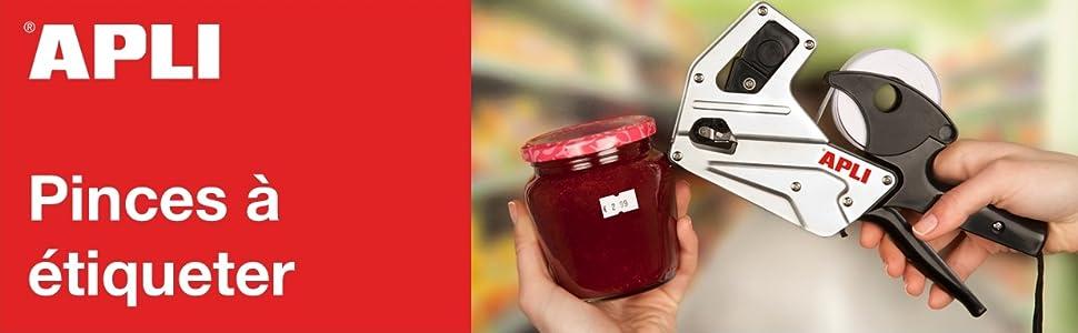 Hanguang Pince /À Etiqueter 1 Ligne 8 Caract/ères /Étiquette De Prix Au D/étail Kit Darmes Avec Cartouches Dencre Pour Bureau /Épicerie Magasin De D/étail Rouge