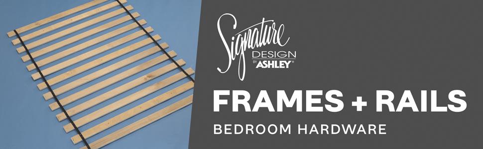 signature design by ashley frames and rails bedroom hardware slats furniture