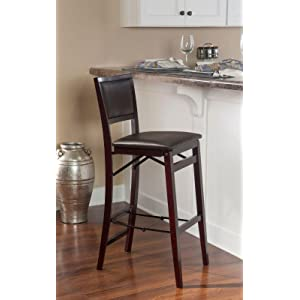 linon weston pad back folding bar stool