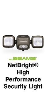mr beams netbright, netbright high performance security light, dual head spotlight