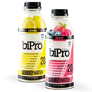 BiPro Protein Water, Lemon or Berry, 16.9 Ounce, Packs of 12