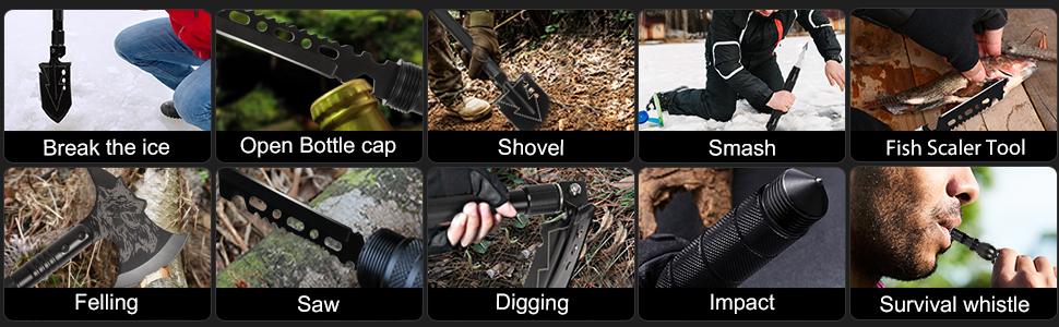 multi-tools camping shovel