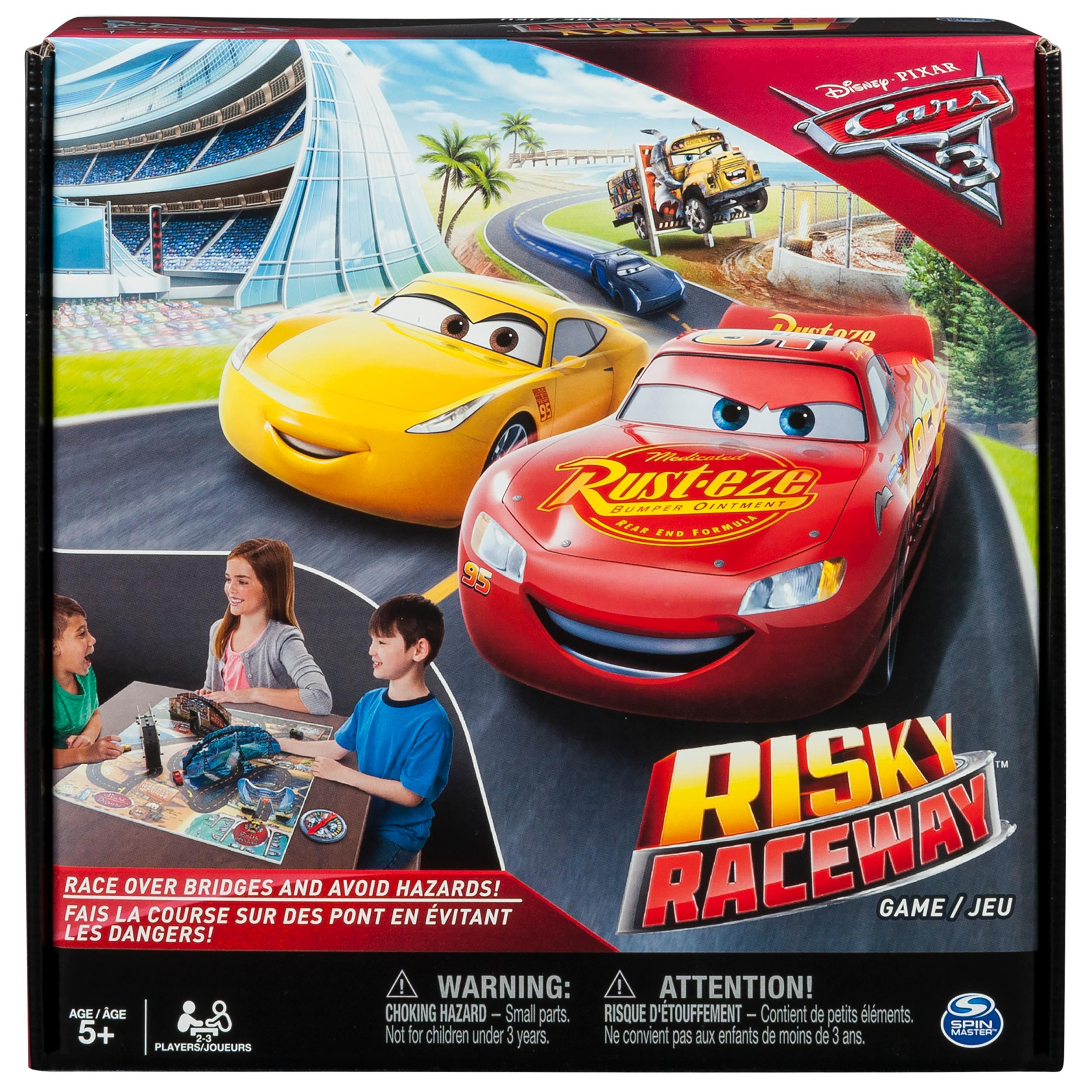Amazon.com: Spin Master Games - Cars 3 - Risky Raceway - Board Game ...