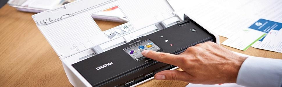 Brother scanner compatto con touchscreen