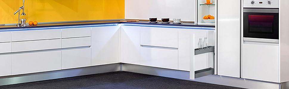 Emuca - Patas para mueble, Pies para muebles de plástico color negro, Lote de 4 pies regulables de alto 100mm: Amazon.es: Bricolaje y herramientas