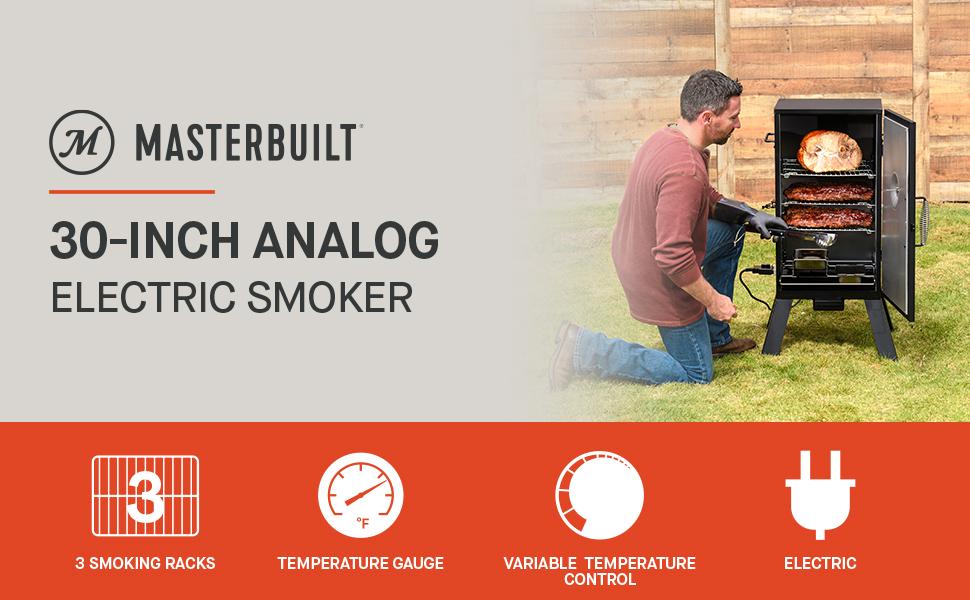 Masterbuilt 30 inch analog electric smoker